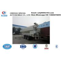 Wholesale Factory sale bottom price CLW brand 50m3 hydraulic discharging farm-oriented livestock poultry feed tank trailer from china suppliers
