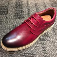 Wholesale Brushing burgundy leather round toe casual mens shoes , leisure shoes from china suppliers