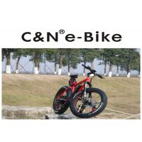 Wholesale 26 Inch Enduro Electric Fat Tire Snow Bike Red Color Aluminum Alloy Frame from china suppliers