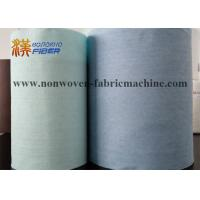 Wholesale Wood Pulp Fabric Industrial Cleaning Wipes Jumbo Roll Turquoise / Blue Color from china suppliers