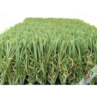 Buy cheap Durable Four Tone 12400Dtex / 8f Hybrid Wave Outdoor Artificial Grass With W Circle And S Wing Blade from wholesalers