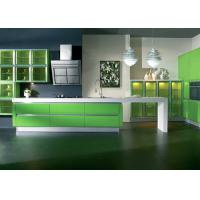Wholesale Italian Design Modular Lacquer Kitchen Cabinets , Apple Green Color Kitchen Cabinets from china suppliers
