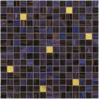 Wholesale Dark blue and purple with real gold waving tile 20mm glass mosaic mix patter from china suppliers