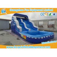 Wholesale Kids / Adults Inflatable Wave Slide With Small Pool For Summer Games from china suppliers