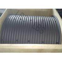 Quality Carbon Steel Gray Color Lebus Grooved Drum And Sleeves For Hoisting / Crane for sale