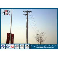 Quality Anti Corrosive 13.8kv 35ft Transmission Line Steel Tubular Pole With Flange Connection for sale