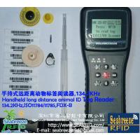 Wholesale Handheld long distance animal ID Tag Reader, 134.2KHz, ISO11784, ISO11785, FDX-B protocol from china suppliers