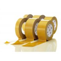 Wholesale Sticky Double Sided Tissue Tape Acrylic Adhesive Yellow Liner Paper from china suppliers
