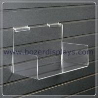 Wholesale Clear 3mm thick Acrylic Slatwall Shelf with Sides from china suppliers