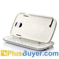 Wholesale Wireless Slide-Out Bluetooth Keyboard + Detachable Case For Samsung Galaxy S4 - White from china suppliers