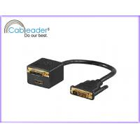 Wholesale Tinned, sliver plated DVI Monitor Cables DVI-D Monitor Cable DVI 24 + 1 with HDMI Female from china suppliers
