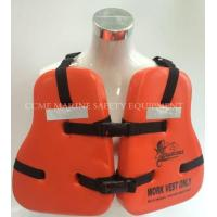Buy cheap Marine life jacket solas life jacket with EC certificate from wholesalers