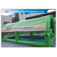 Wholesale Customized Green Small Family Inflatable Pools For Kids / Adults With Cover Tent from china suppliers