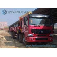 Wholesale Right Hand Drive HOWO 8 X 4 12 Ton Crane Mounted Truck With Half Row Cab from china suppliers