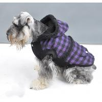 Quality S M L XL XXL Cute Hoodies Warm Dog Winter Coats with Blue and Purple for sale