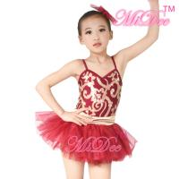 Wholesale Fancy Kids Dance Costumes Floral Sequin Dress Matching Tulle Tutu Skirt from china suppliers