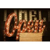 Wholesale High Brightness Rustic Vintage Marquee Light Letters , LED Light Bulb Letters from china suppliers
