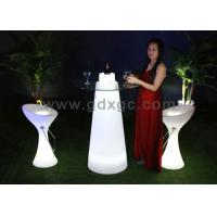 Wholesale IP65 Waterproof Plastic Illuminated Table,110cm Height Plastic Coffee Table With Top Glass from china suppliers