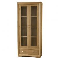 Wholesale Tall Solid Wood Furniture Display Cabinets For Living Room , Corner Display Unit from china suppliers