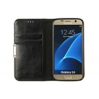 Wholesale Galaxy S6 Leather Phone Cases Black Color With Stand / Card Slot CE Approved from china suppliers