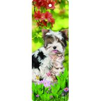 Wholesale Custom Available Lovely Dog 3d Lenticular Bookmark With Tassel For Gifts And Souvenirs from china suppliers