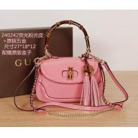 China G U C C I fashion woman handbag,2014 newest style genuine leather pink color handbag. on sale