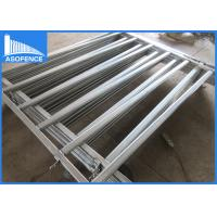 Wholesale Oval Pipe Cattle Yard Panel Fencing Heavy Duty For Farm , Silver Painted Surface from china suppliers