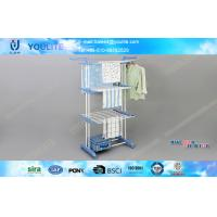 Wholesale Indoor Outdoor Mobile Floor Standing Towel Rack with Wheel , Three Layer from china suppliers