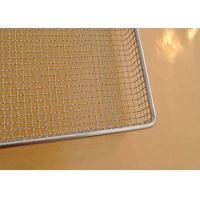 Wholesale 304 SS Perforated Wire Mesh Tray Light Weight With Grit Blasting , 100cm*50cm*20cm from china suppliers