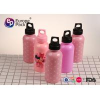 Wholesale Portable Cute Pattern Refillable Pink Kids Plastic Water Bottles With Lid from china suppliers
