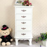 Quality 5 White Wooden Drawers Boxes Fashion Cabinet Bedroom Furniture for sale