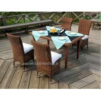 Wholesale 5 Piece Rattan Table And Chairs Garden Furniture For Dinning / Reception from china suppliers