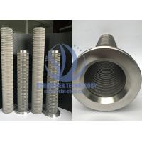 Wholesale High Performance Wire Mesh Filter For Filtration System , 0.15mm Filtering Slot from china suppliers