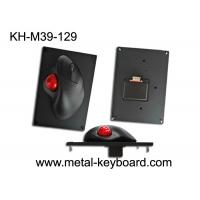 Buy cheap 39MM Resin Trackball With Black Metal Mounted Panel , Industrial Computer Mouse from wholesalers