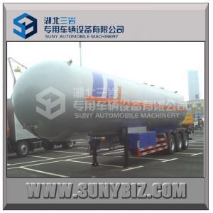 China 59520L 25T 3 Axles Semi Tanker Trailers 12 Wheels LPG Gas Tanker on sale