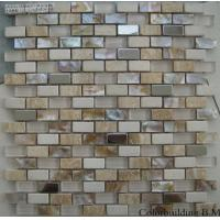 Wholesale Shell Mix Metal Crystal Glass Mosaic Tile, Bathroom Mosaic Wall Tiles from china suppliers