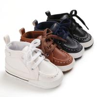 Buy cheap PU leather casual shoes cotton soft sole prewalker infant baby boy shoes from wholesalers