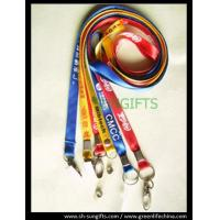 Wholesale Promotional custom lanyards, flat polyester working lanyard cords with metal accessories from china suppliers