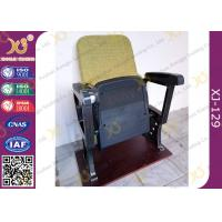 Wholesale Fixed Leg Foldable Movie Theater Seats With Writing Table , Plastic Church Chairs from china suppliers