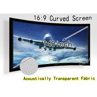 Wholesale 16 By 9 Home Cinema Curved Screen Beamer 140inch Aluminum Frame from china suppliers