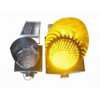 Wholesale 200mm Waterproof Solar LED Traffic Light Durable , Yellow Solar LED Warning Light from china suppliers
