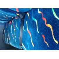 Wholesale Vintage Blue Classic Car Seat Upholstery Fabric Printed Bonding from china suppliers