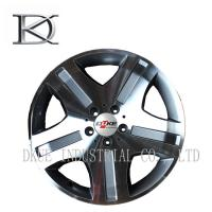 Quality Benz Mercedes Replica Reproduction Wheels Alloy Rims 5 Holes Black Machine / Sliver lip for sale