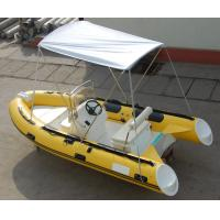 Wholesale Yellow 14ft Fiberglass RIB Inflatable Rescue Boat With Outboard Motor from china suppliers