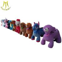 Buy cheap Hansel Cheap price modern plush electric animal carts battery car Animal electric vehicle from wholesalers