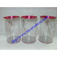Wholesale Clear Paint Can / PVC Bucket/ Clear Pails/ PVC &PET Tin Can Buckets from Goldentinbox.com from china suppliers