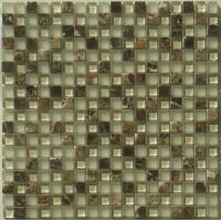 Buy cheap 300x300mm Decorative Natural Stone Mosaic Tiles, Crystal Glass Mosaic Wall Tile from wholesalers