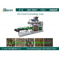 Wholesale Twin Screw Pet Food Extruder , 2 - 5 Ton Dog Food Processing Equipment from china suppliers