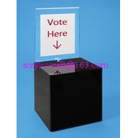 Wholesale Counter top acrylic ballot box / plexiglass suggestion box prices from china suppliers