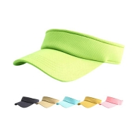 Wholesale Adults Empty Plastic Ladies Sun Visor Hat Velcro Back Closure from china suppliers